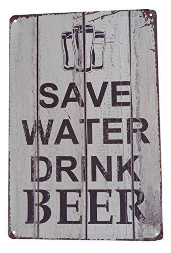 (Beer Alcohol Drinking Funny Tin Sign Bar Pub Diner Cafe Wall Decor Home Decor Art Poster Retro Vintage)