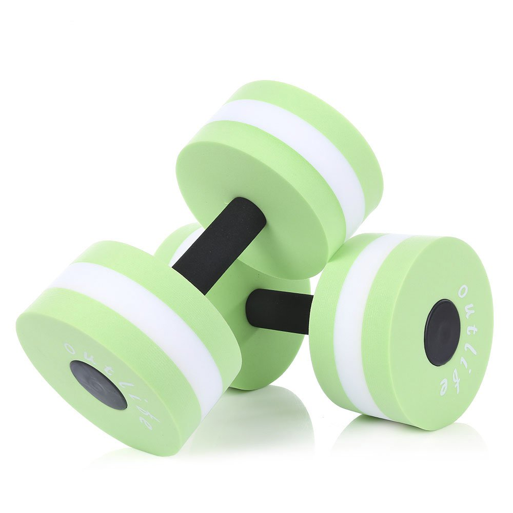 CHYIR Green Fitness Pool Exercise EVA Water Aquatics Dumbbell for Swimming Training 2pcs