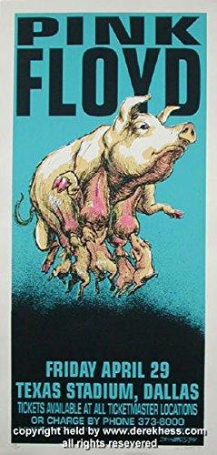 Pink Silkscreen (1994 Pink Floyd (94-08) Silkscreen Concert Poster by Derek Hess)