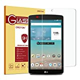 LG G Pad F 8.0 Screen Protector, ONLY for LG G Pad F 8.0 (Front Camera on the Left Side) OMOTON Tempered Glass with [9H Hardness] [Crystal Clear] [Scratch-Resistant] [Bubble Free] [Easy Installation]
