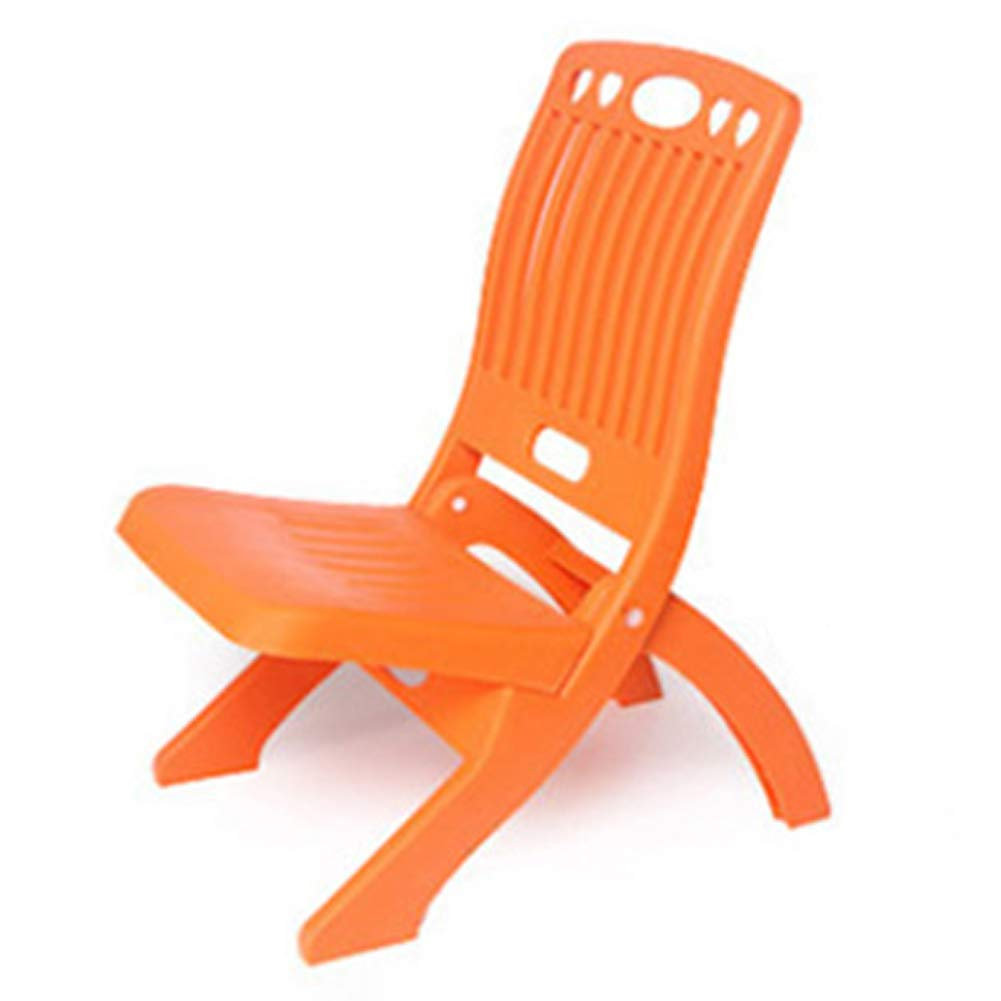 orange Folding Plastic Kids' Step Chairs Indoor Portable Foldable for Kids and Adults Outdoor Picnic Bench