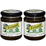 Tracklements Fresh Mint Jelly - Pack of 2 x 250g Jars | Gluten Free, Traditional