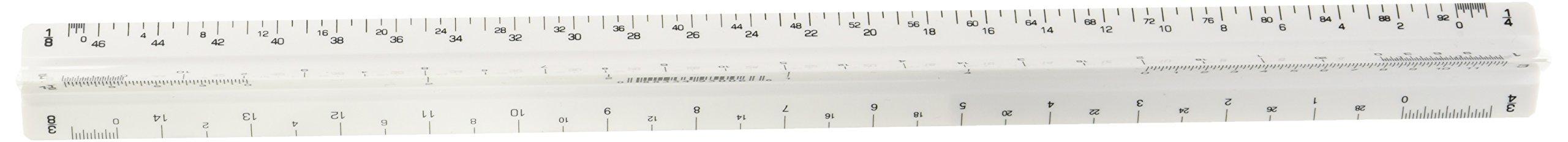 Alvin 110P 110 Series 12'' High Impact Plastic Architect Triangular Scale by Alvin (Image #2)