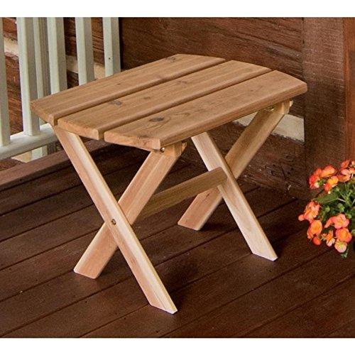 A & L FURNITURE CO. Western Red Cedar Folding Oval End Table (Western End)