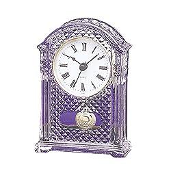 Smaill Pendulum Office Desk Crystal Quartz Clock