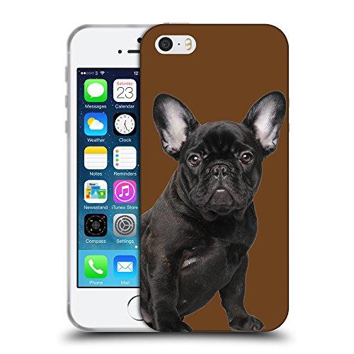 GoGoMobile Coque de Protection TPU Silicone Case pour // Q05630633 Bouledogue noir nero di seppia // Apple iPhone 5 5S 5G SE