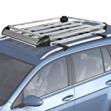 Best Choice Products 50''x38'' Aluminum Car Roof Cargo Carrier Luggage Rack Top Basket W/ Roof Bars