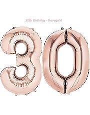 Meowoo Happy Birthday Ballon pour 30 Anniversaire décoration de fête d'anniversaire