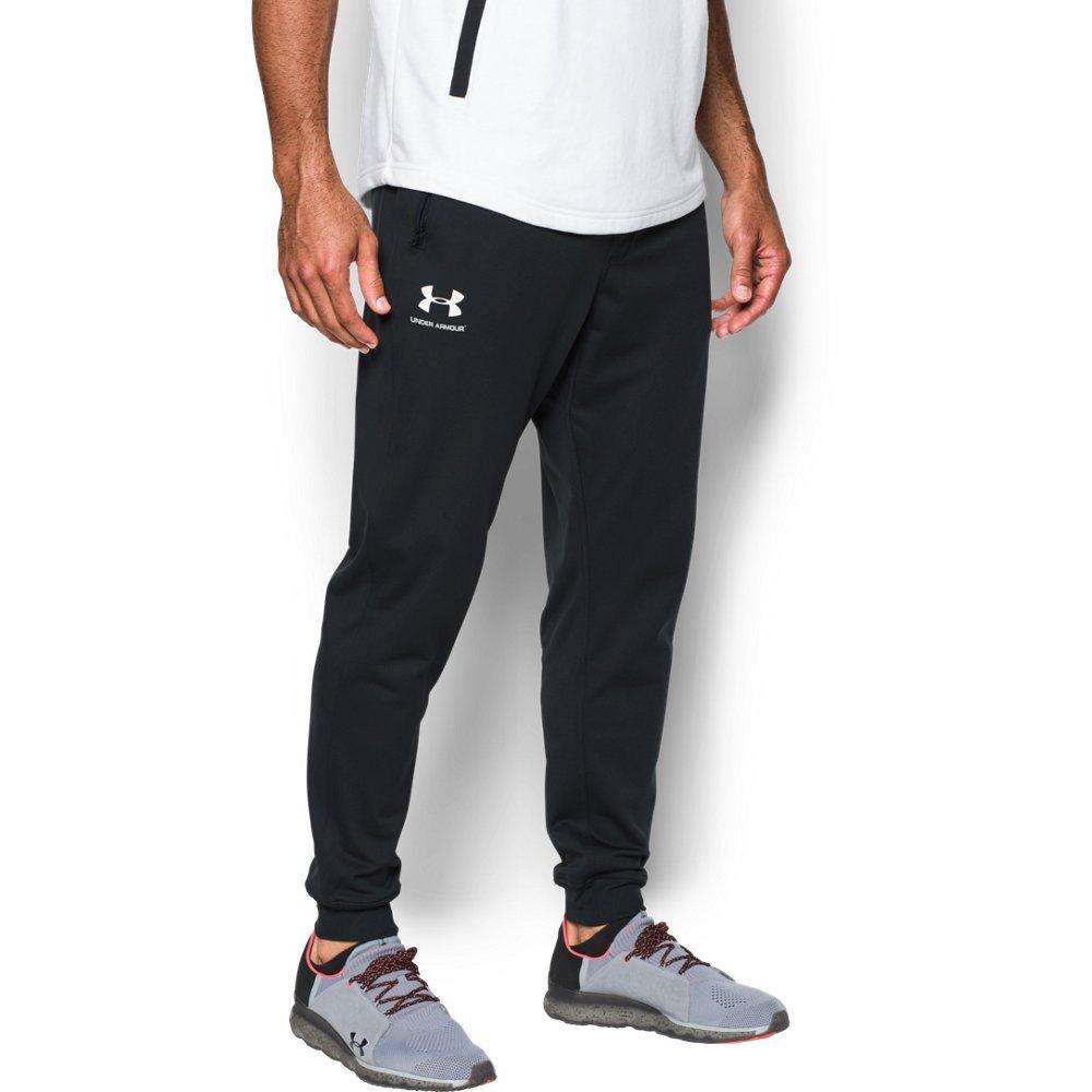 Under Armour Men's Sportstyle Jogger Pants, Black/White, Medium