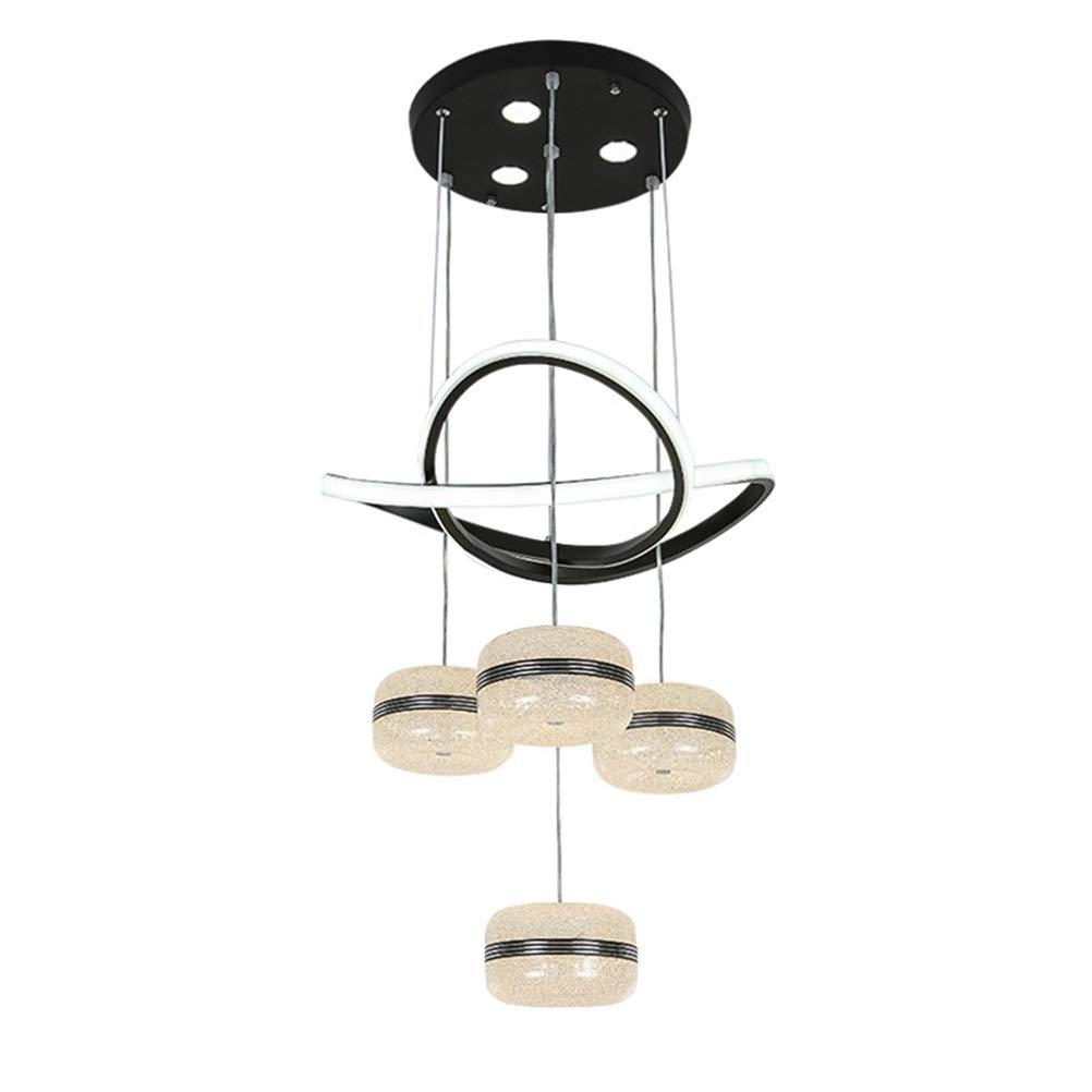 H.Q シンプルなペンダントライトアイアンレストランシャンデリアクリエイティブled天井照明家の装飾吊りランプ器具   B07TXQC7HF