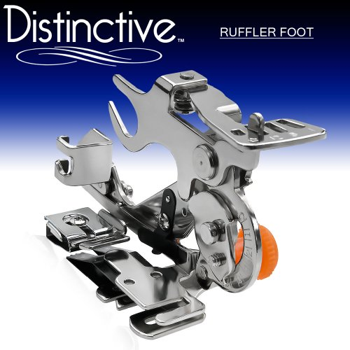 Distinctive Ruffler Sewing Machine Presser Foot - Fits All Low Shank (Top-Loading Drop-In Bobbin Machines Only) Singer, Brother, Babylock, Janome, Kenmore, White, Juki, Simplicity, Elna and More!