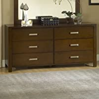 Modus Furniture RV2682 Riva 6-Drawer Dresser, Chocolate Brown