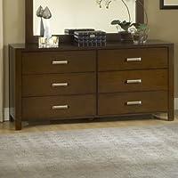 Modus Furniture RV2682 Riva 6-Drawer Dresser, Chocolate Brown