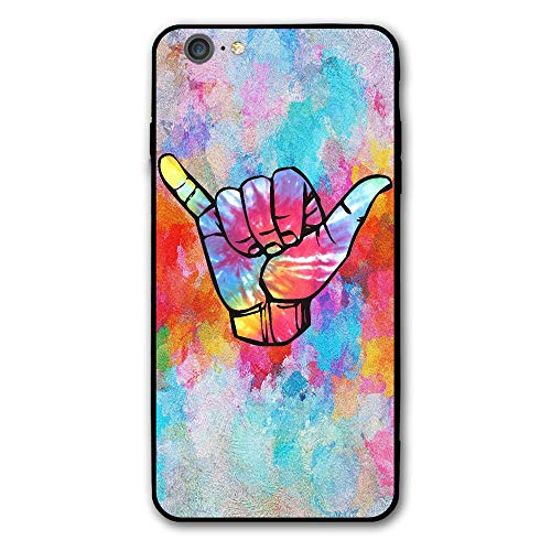 SRuhqu Bright Tie Dye Shaka Shockproof Anti-Scratch Slim Fit Hybrid TPU PC Frame Soft Back Cover Protective IPhone 6 Plus Case ()
