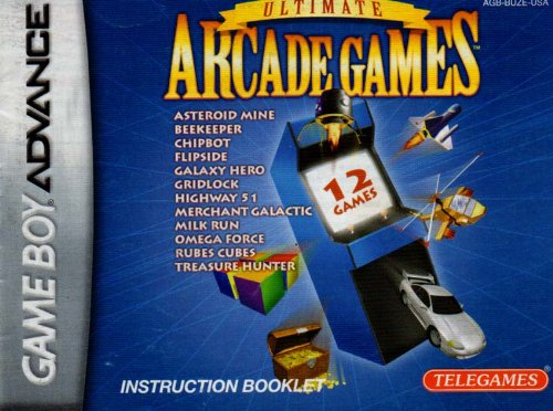 Ultimate Arcade Games GBA Instruction Booklet (Game Boy Advance Manual only) (Nintendo Game Boy Advance Manual)