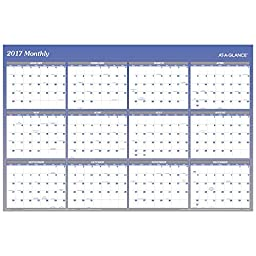 AT-A-GLANCE Wall Calendar 2017, Erasable, Reversible, Planner, 48 x 32\