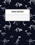 Dino Notes: Lined Dinosaur Notebook (Dinosaur Fossils Design) (Journal Composition Book Diary) (8.5 x 11 Large)