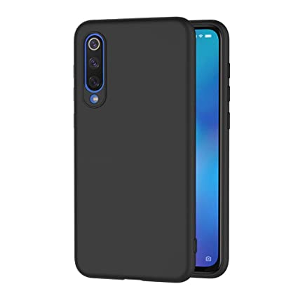 AICEK Funda Xiaomi Mi 9 SE, Negro Silicona Fundas para Xiaomi Mi 9 SE Carcasa Xiaomi 9 SE Negro Silicona Funda Case (5,97 Pulgadas)