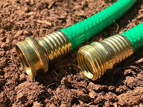 Short Garden Hose by The Foot – Short Watering Hoses – Brass, Standard or Dual Male or Dual Female End Options- Medium Duty – 14ft
