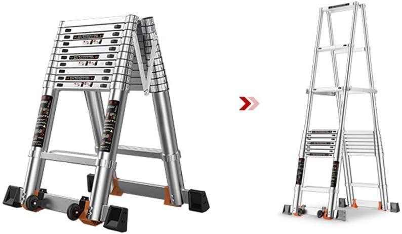 BAIF Mini Escalera telescópica, Escalera telescópica Plegable portátil de aleación de Aluminio para el hogar Loft Engineering Lift 4.5m / 177inch Escalera Plegable: Amazon.es: Hogar