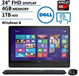 "Dell Inspiron 24"" FHD All-in-One Touchscreen Desktop Computer (AMD Quad Core A6 2.0GHz, 4GB RAM, 1TB HDD, USB 3.0, HDMI, Webcam, Wifi, DVDRW, Bluetooth, Windows 8) (Certified Refurbished)"