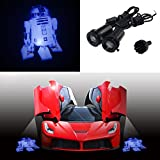 Spoya Star Wars R2-D2 Robot droid Wired CREE 3W LED Car door logo shadow ghost light welcome courtesy LED projector lights
