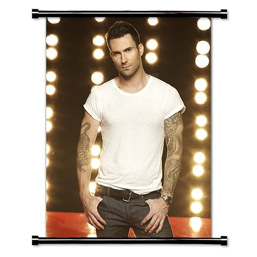Adam Levine Maroon 5 Fabric Wall Scroll Poster  Inches