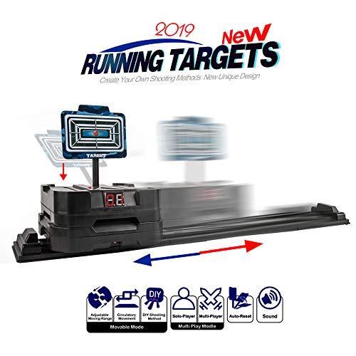 Little Valentine Running Target Movable Target Adjustable DIY Shooting Electric Scoring Auto Reset Digital Targets for Nerf Guns(2019 New Version) (Valentines Targets)