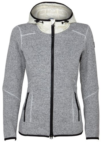 super natural Merino Combustion Cloud Hoodie 320 - Chaqueta con capucha para mujer gris Metal Grey/latte Talla:small gris - Metal Grey/latte