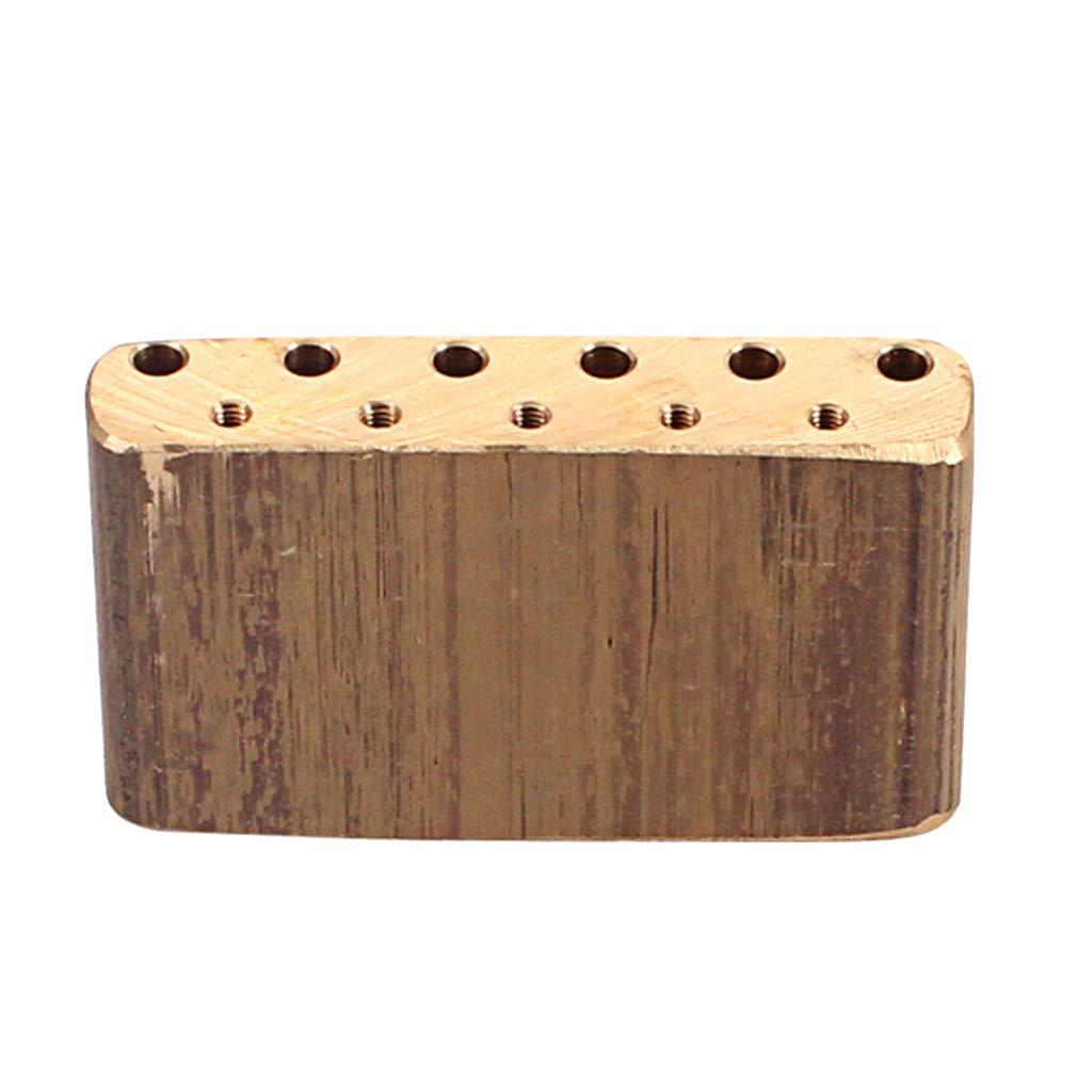 Exquisito Brass Guitar Bridge Base Tremolo Block Para Strat ST Guitarra Eléctrica DIY: Amazon.es: Instrumentos musicales