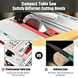 Goplus Table Saw, 10-Inch 15-Amp Portable Table