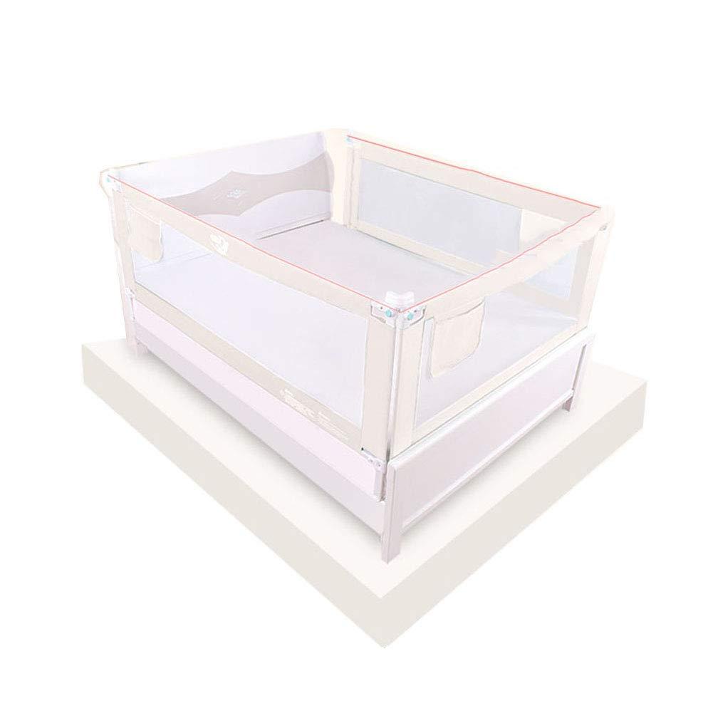 JY 3サイドベッドレール用幼児垂直リフト、エクストラロングベッドガード子供の安全ベッドレール、ポータブル抵抗保護フェンスクリームホワイト   B07MM5WCMJ