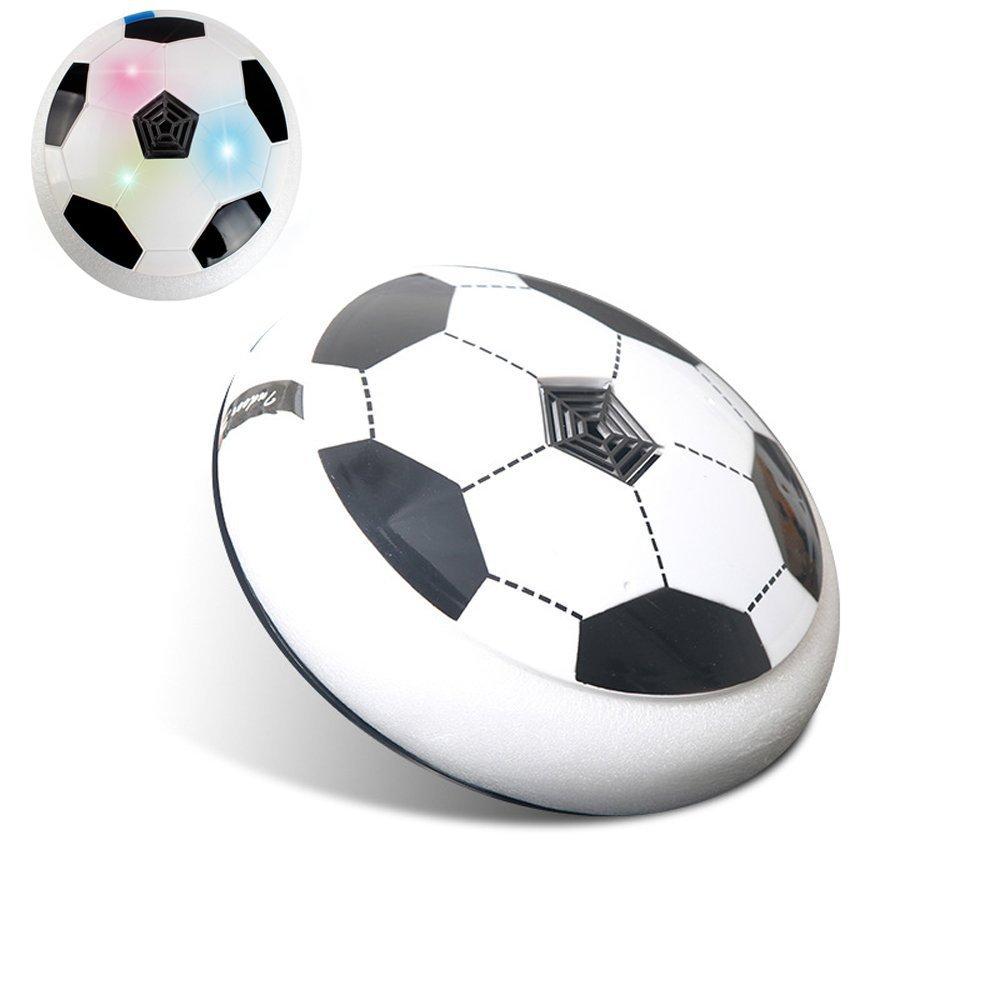 uvipU KidsエアパワーサッカーディスクトレーニングFootball Toy電気男の子子供Football Hover Glideベースボールおもちゃゲームインドアアウトドア楽しいおもちゃソフトフォームバンパー、LEDライト B0771RKCXL ホワイト