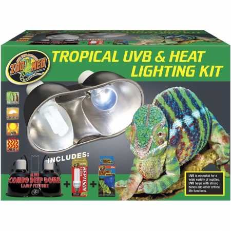 (Zoo Med Tropical UVB Heat Lighting Kit )