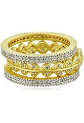 Freida Rothman Crown Set of Three Stackable Rings