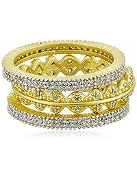 Freida Rothman Crown Set of Three Stackable Rings
