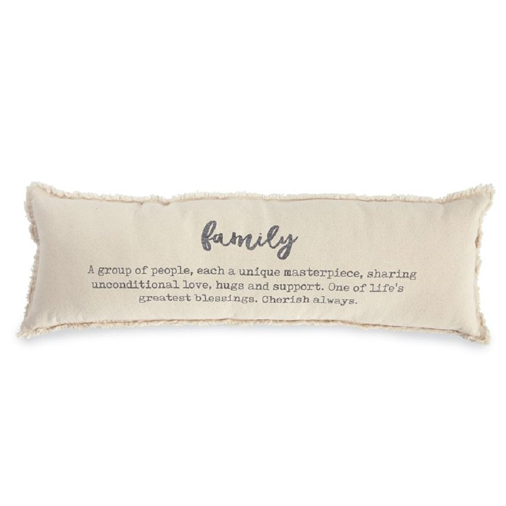Mud Pie Family Definition Decorative Accent Pillow, One Size, Off White by Mud Pie