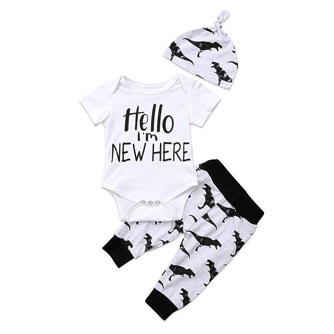 Amazon.com: Hello, Im here - Conjunto de ropa de manga ...