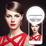 Rechargeable LED Ring Selfie Light for Smartphones [36 LED] for iPhone iPad Sumsung Galaxy Photography Phones