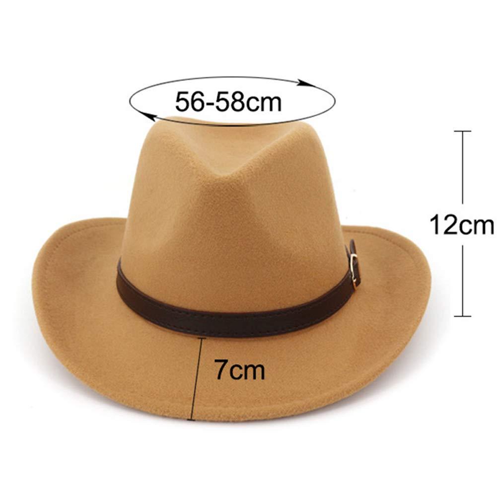 Lisianthus Men & Womens Felt Gambler Cowboy Hat with Buckle