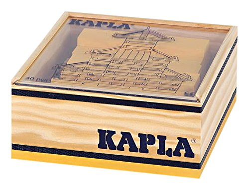 Kapla 40 pc Yellow Color Square in Wooden Box -  9000156