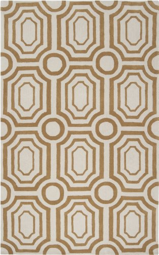 """angelo:HOME by Surya Hudson Park HDP-2015 Contemporary Hand Tufted 100% Polyester Antique White 5' x 7'6"""" Geometric Area Rug"""