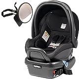 Peg Perego - Primo Viaggio 4-35 Car Seat w Back Seat Mirror - Licorice - Black Eco-Leather