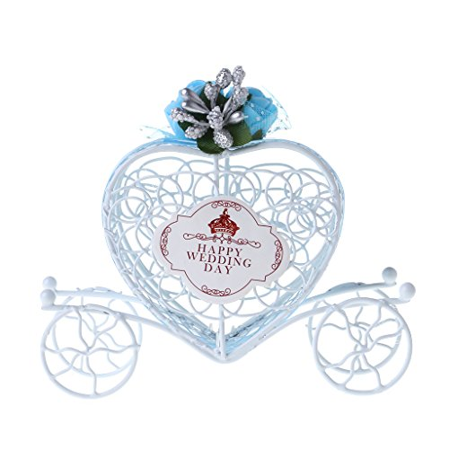 (Ladaidra Cinderella Carriage Chocolate Candy Box Birthday Wedding Party Favour Decor Gift (Blue))