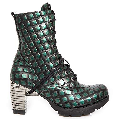 Tacón M New Rock Chica Gótico Punk Heavy Botines Verde Mujer tr001x s16 Urban Cordones q85r5T