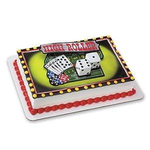 High Roller Casino Cake Topper
