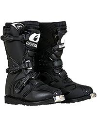 0325-102 Boys New Logo Rider Boot (Black, Size 2)