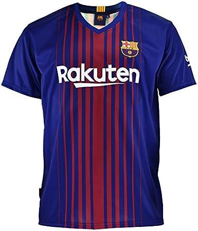 Camiseta 1ª Equipación Replica Oficial FC Barcelona 2017-2018 Dorsal Messi - Tallaje NIÑO Junior: Amazon.es: Juguetes y juegos