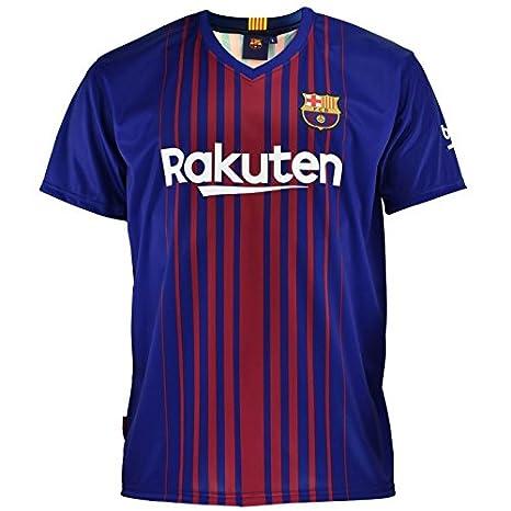 57677b230be7c Camiseta 1ª Equipación Replica Oficial FC Barcelona 2017-2018 Dorsal Messi  - Tallaje NIÑO Junior  Amazon.es  Deportes y aire libre
