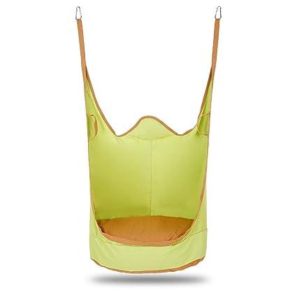 Phenomenal Amazon Com Kids Pod Swing Chair Indoor Outdoor Foldable Theyellowbook Wood Chair Design Ideas Theyellowbookinfo